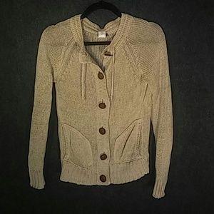 J Crew beige linen sweater, size S